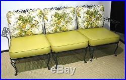 12 Pc Iron Woodard Sunroom Set Sofa, Rockers, Chair, Ottoman, Table & 4 Chairs