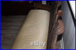 1800-1900s MASTERPIECE ANGLO-INDIAN HAND-CARVED SOLID ROSEWOOD ASIAN SOFA