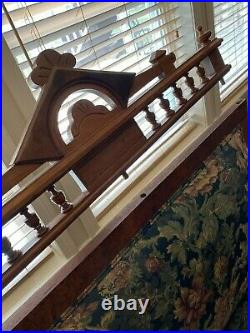1800s Eastlake Victorian Oak Fainting Couch Antique Expands to Day Bed