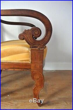 1840 French Paris Victorian Jeanselme Three Piece Suite (Sofa + 2 Armchairs)