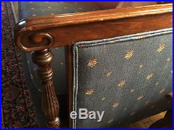 1920's Mahogany Sofa Chaise Couch Vintage Antique Regency Style Settee Heirloom