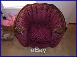 1930's Antique Deco Sofa Set Original Upholstery Custom Mohair Solid
