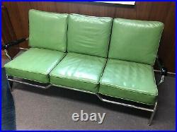 1950's Mid Century chrome 3 cushion couch By Chromcraft