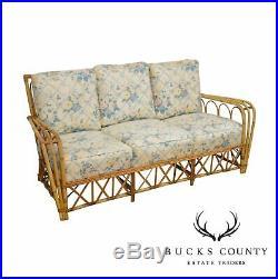 1950's Vintage Rattan Sofa