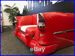1955 Chevy Bel Air Sofa Couch Collectable Man Cave Rear End Table Vintage Art