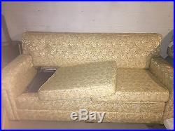 1960's mid century kroehler sleeper sofa and chair