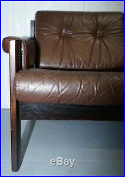 1960s DANISH VINTAGE LEATHER SOFA WITH A MATCHING ARMCHAIR IN A SEPARATE LISTING
