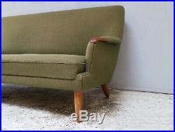 1960s Danish mid century modern 3 seat sofa