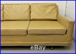 1960s Mid Century Modern Monroe Sofa Selig danish mod vtg retro tuxedo sofa