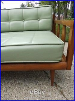 1960s Mid Century Modern Platform/Daybed Sectional Sofa Green Peter Hvidt Era
