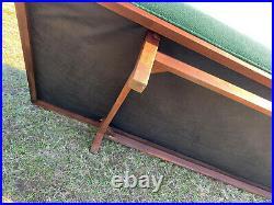 1960s Mid Century Modern Sofa Attributed to Hans Wegner for Getama / Walnut Trim