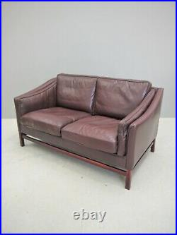 1960s ORIGINAL VINTAGE TWO SEAT SOFA BY STOUBY MADE DENMARK DANISH MID CENTURY