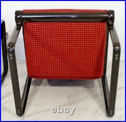 1970s Mid-Century Modern Sling Lounge Armchairs Hannah & Morrison Knoll A Pair
