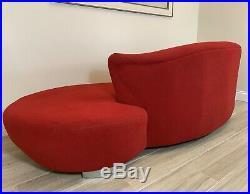 1970s Vintage Vladimir Kagan Style Cloud Serpentine Sofa