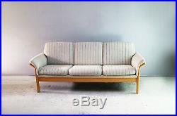 1970s mid century Danish 3 seat sofa by Soren Lund