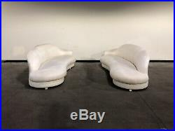 1980s Modern Serpentine Cloud Sofa Attributed to Vladimir Kagan Holly Hunt Pair