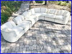 1980s Vintage Henredon Modular Sculptural Sectional Sofa