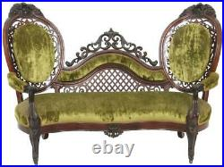 19878 Rosewood laminated sofa