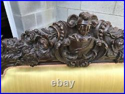 19th. C. CARVED ROSEWOOD SOFA WITH HEADS