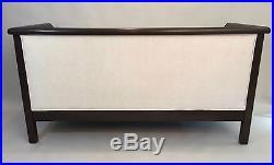 19th C. Empire Style Box Form Mahogany Settee