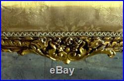 19th C. Ornate French Louis XVI Corbeille Settee