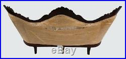 19th C Victorian Rosewood Rosalie Antique Couch / Sofa By John Henry Belter