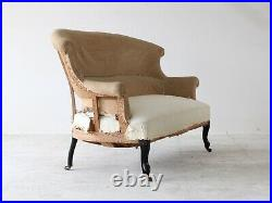 19th Century French Napoleon III Scroll Back Sofa For Reupholstery