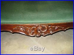 19th Century Mahogany Rococo Victorian Couch