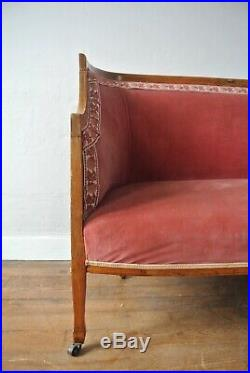 19th Century Victorian French Antique Napoleon III Two-Seater Sofa Circa 1850