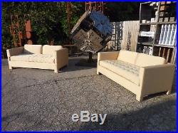 2 Vintage Mid Century Modern Parsons Style Love Seat/Sofas Probber/Wormley Era