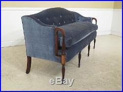 30994EC Fine Custom Quality Vintage Sheraton Style Inlaid Mahogany Sofa