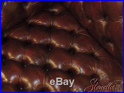 39685EC English Style Tufted Burgundy Leather Chesterfield Sofa