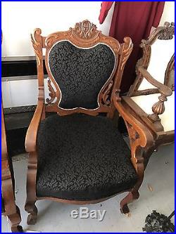 3 Pic Parlor Set- VICTORIAN East Lake Matching Rocking Chair, Sofa And Chair