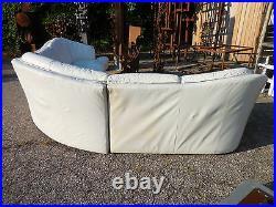 3pc Leather Serpentine Sectional Jaymar Sofa Mid Century Modern Kagan Style/Era
