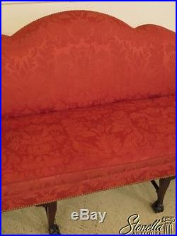 44967 KINDEL Irish Georgian Clawfoot Mahogany Sofa