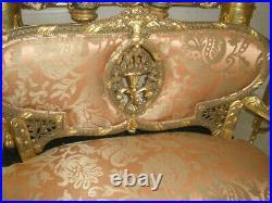 $50k Rare 7 Pc French Antique 18th Century Louis XVI Sofa, Arm Chairs, Chairs Set