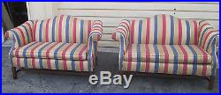 56635 PAIR Quality Loveseat Camelback Sofa Couch Chair s