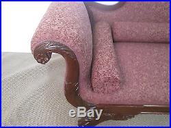 57267 Antique Victorian Carved Empire Sofa