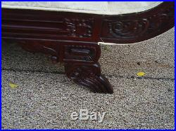 59294 Mahogany Fainting Couch Chaise Lounge Chair