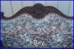 59615 Antique Mahogany Empire Settee Loveseat Couch Chair