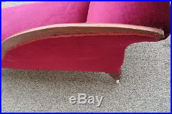 59796 Antique Victorian Fainting Couch Chaise Lounge Sofa