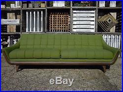 60u0027s Adrian Pearsall Style Tufted Gondola Sofa Mid Century Modern Baughman  Era