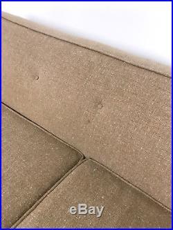 70 Vintage Mid Century Modern Sofa Couch Beige Tweed Probber, McCobb Era