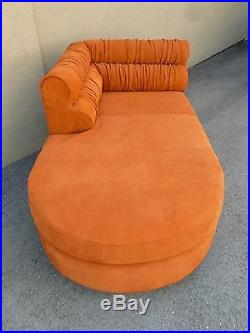 70's Mod Italian Suede And Lucite Fainting Couch Or Chaise Sexy Sexy Sexy