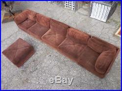 70's Vintage 6pc Selig Modular Sectional Sofa Mid Century Modern Baughman Era