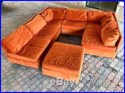 70 S Vintage 7pc Selig Modular Sectional Sofa Mid Century