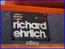 70's Vintage Richard Ehrlich Sofa Mid Century Modern Baughman/Probber Era
