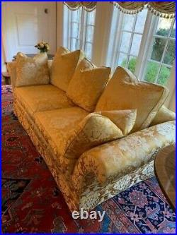 86 Traditional Baker Furniture Custom Gold Upholstered Sofa