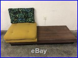 ADRIAN PEARSALL Vintage PLATFORM SOFA mid century modern wood danish couch set