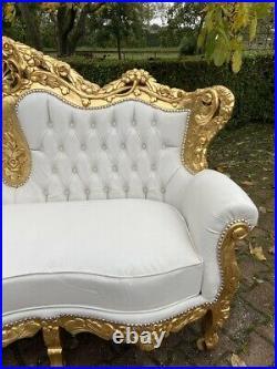 ANTIKES FRANZÖSISCHES LOUIS XVI BAROCK Sofa + 4 STÜHLEN WELTWEITER VERSAND